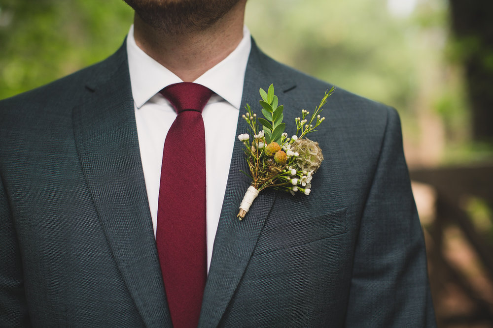 Boy Scout Camp Wedding - Groom Boutonniere