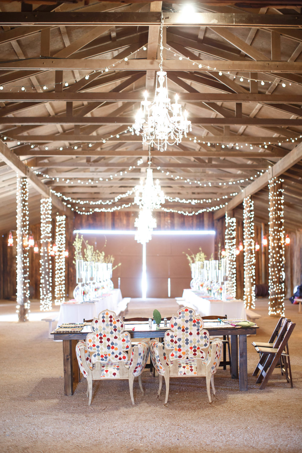 Colorful Desert Barn Wedding Reception