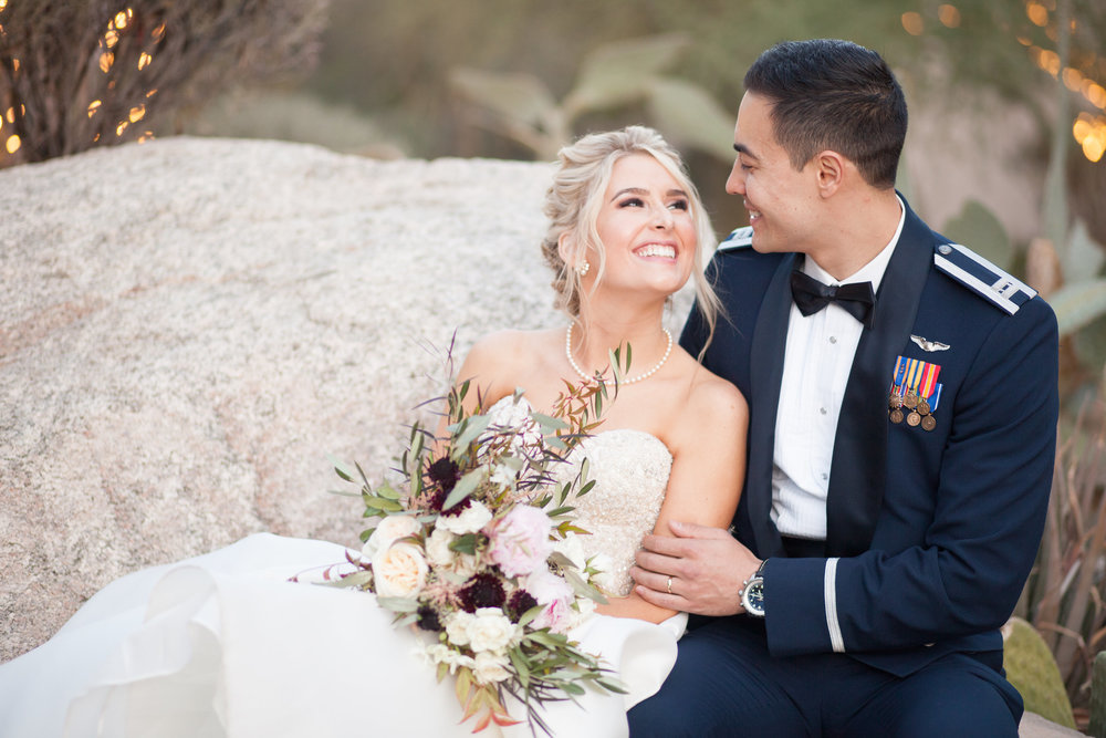Desert Military Wedding