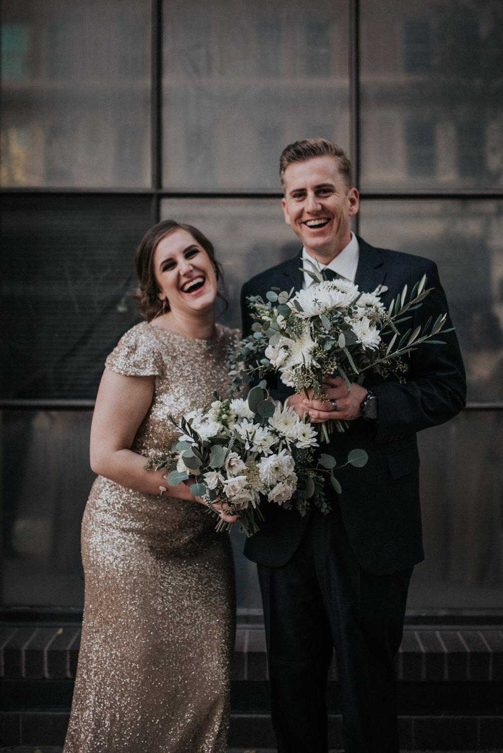 Downtown Phoenix Moody Glam Wedding - Bridesmaid Style
