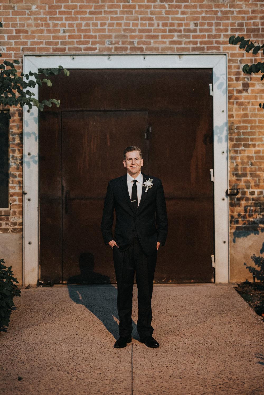 Downtown Phoenix Moody Glam Wedding - Groom