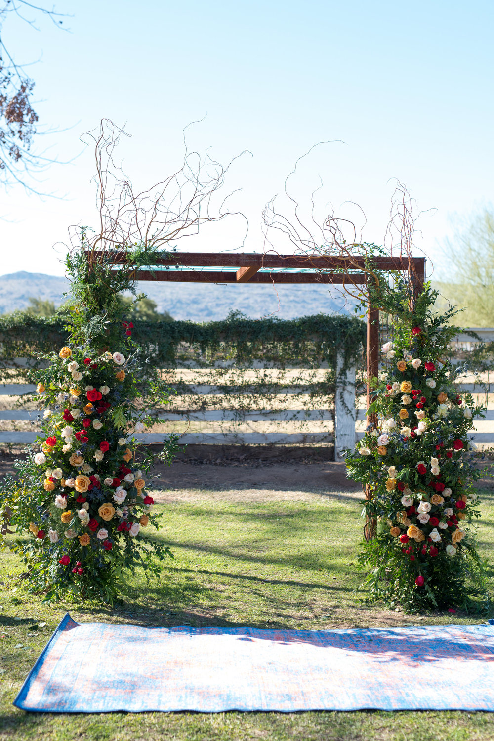 Flower Arch at The Farm at South Mountain