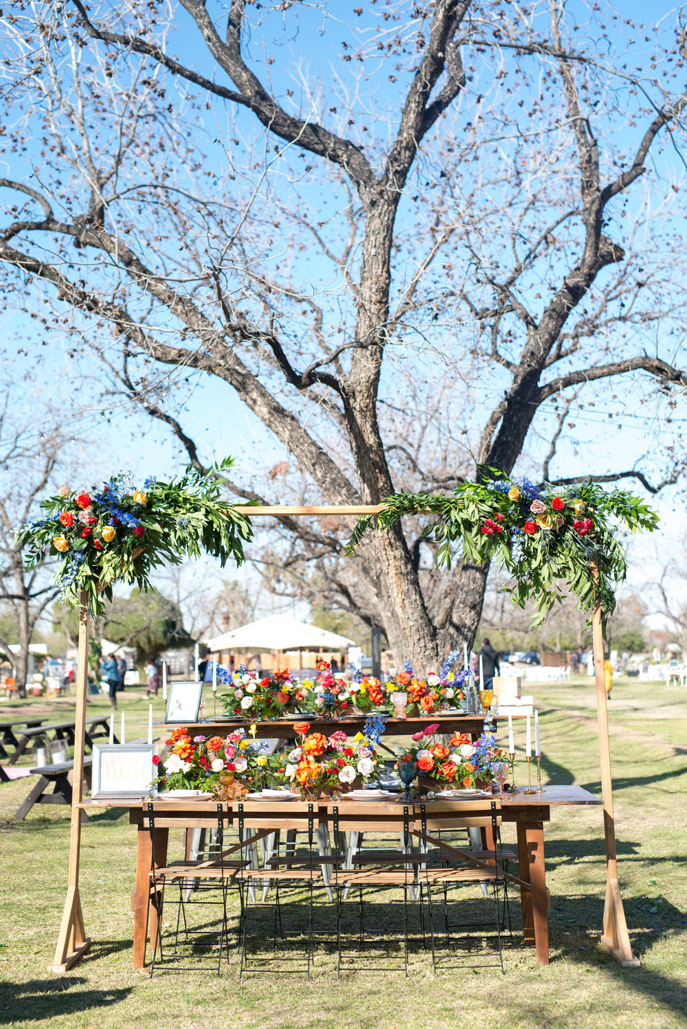 Colorful Wedding Reception at The Farm at South Mountain