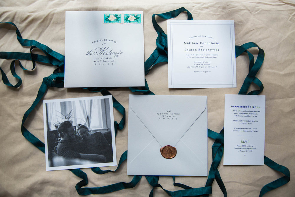 Chicago Wedding - Custom Stationary Suite