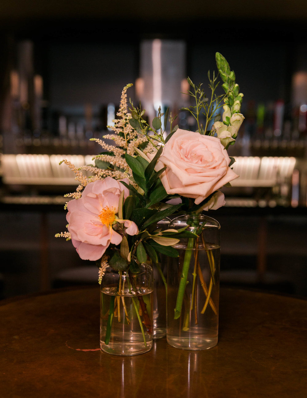 Chicago Wedding - Bud Vase Centerpiece