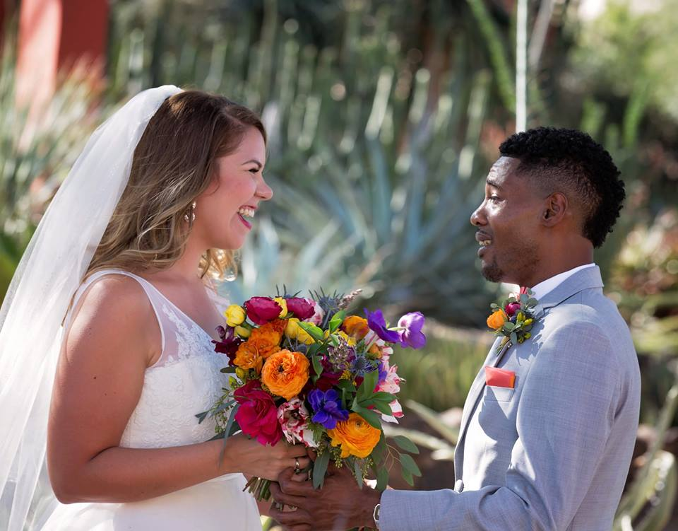 Colorful Desert Botanical Garden Wedding