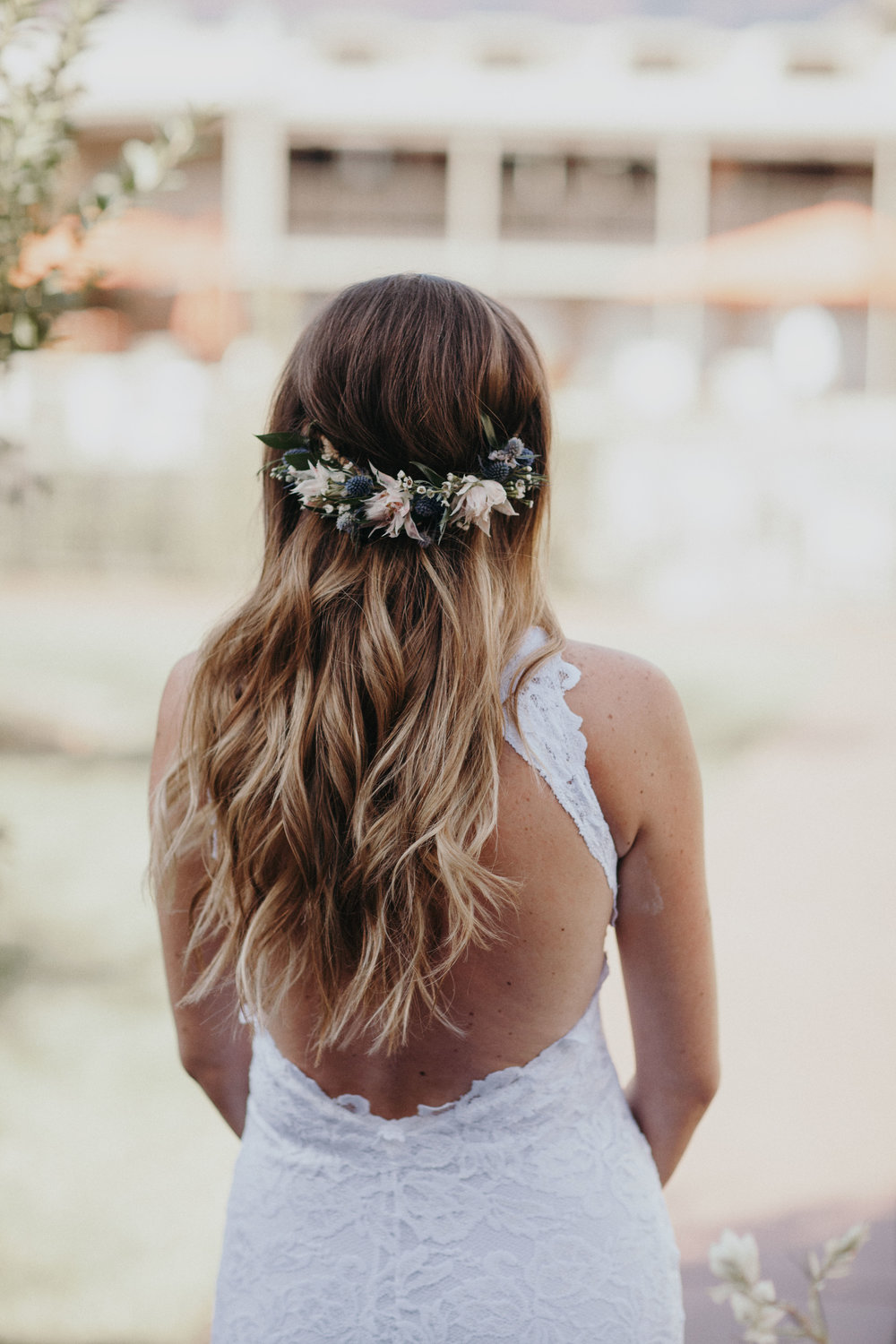 Sedona Wedding - Half Flower Crown Bridal Hair Inspiration