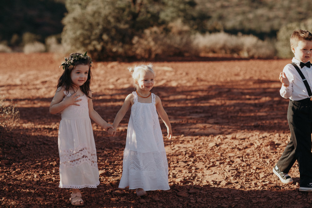 Sedona Wedding - Flower Girl Flower Crown