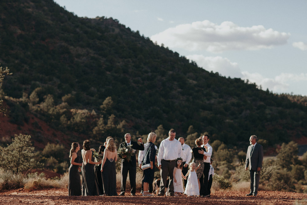 Sedona Wedding - Ceremony on the Red Rocks