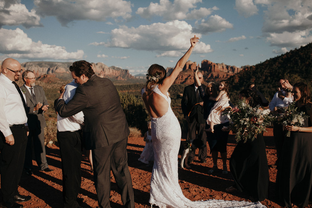 Sedona Wedding - Standing Ceremony