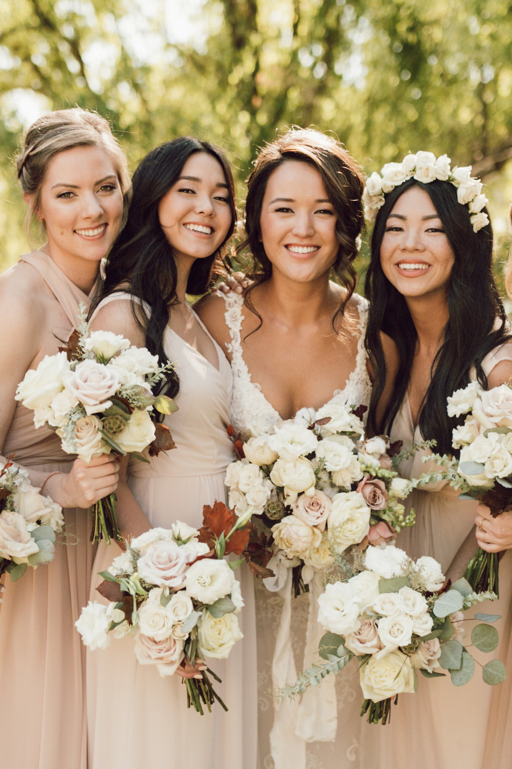 DA Ranch Fall Wedding - Bridesmaids
