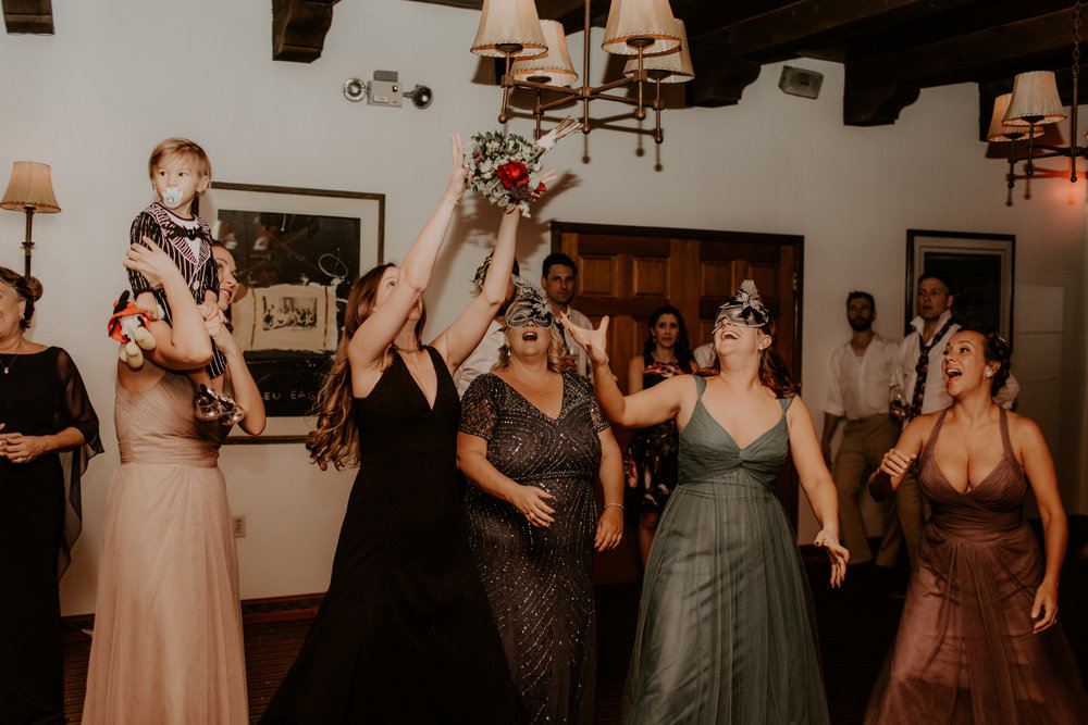 Moody Desert Wedding - Bouquet Toss