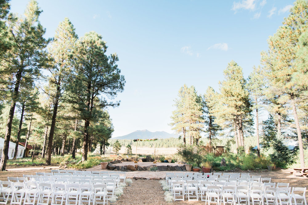 Flagstaff Forest Wedding - Ceremony
