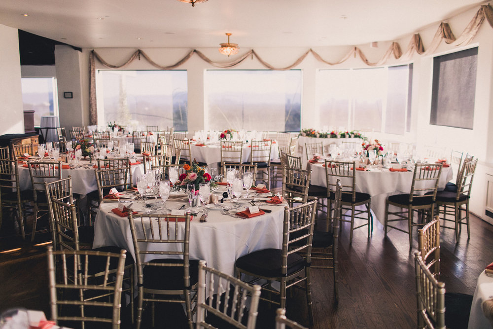 Colorful Springtime Wedding at Wrigley Mansion - Reception Space