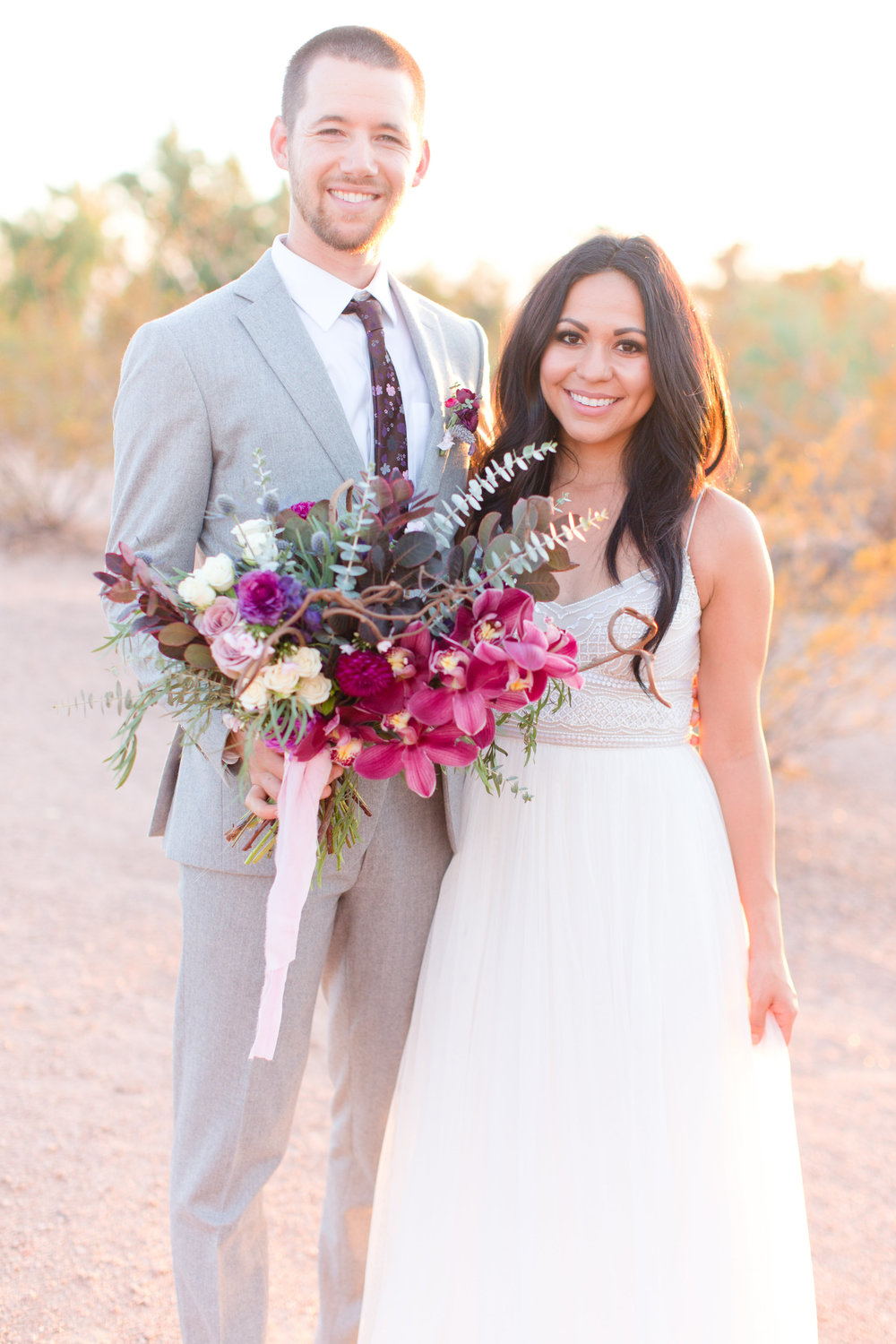 Amy & Jordan Workshop - Purple Anthropologie Inspired Wedding
