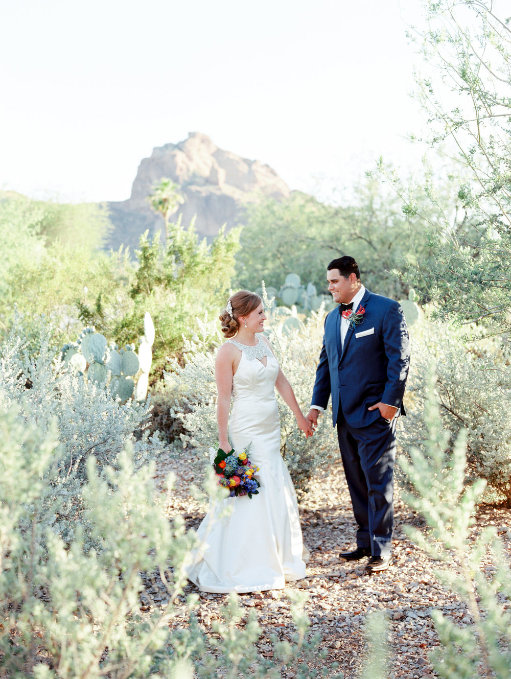 Fiesta Inspired El Chorro Wedding - Desert Portraits
