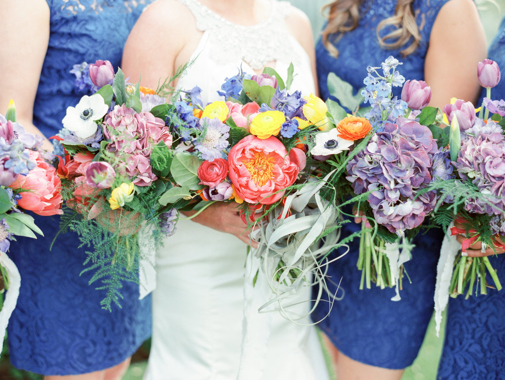 Fiesta Inspired El Chorro Wedding - Colorful Bouquets