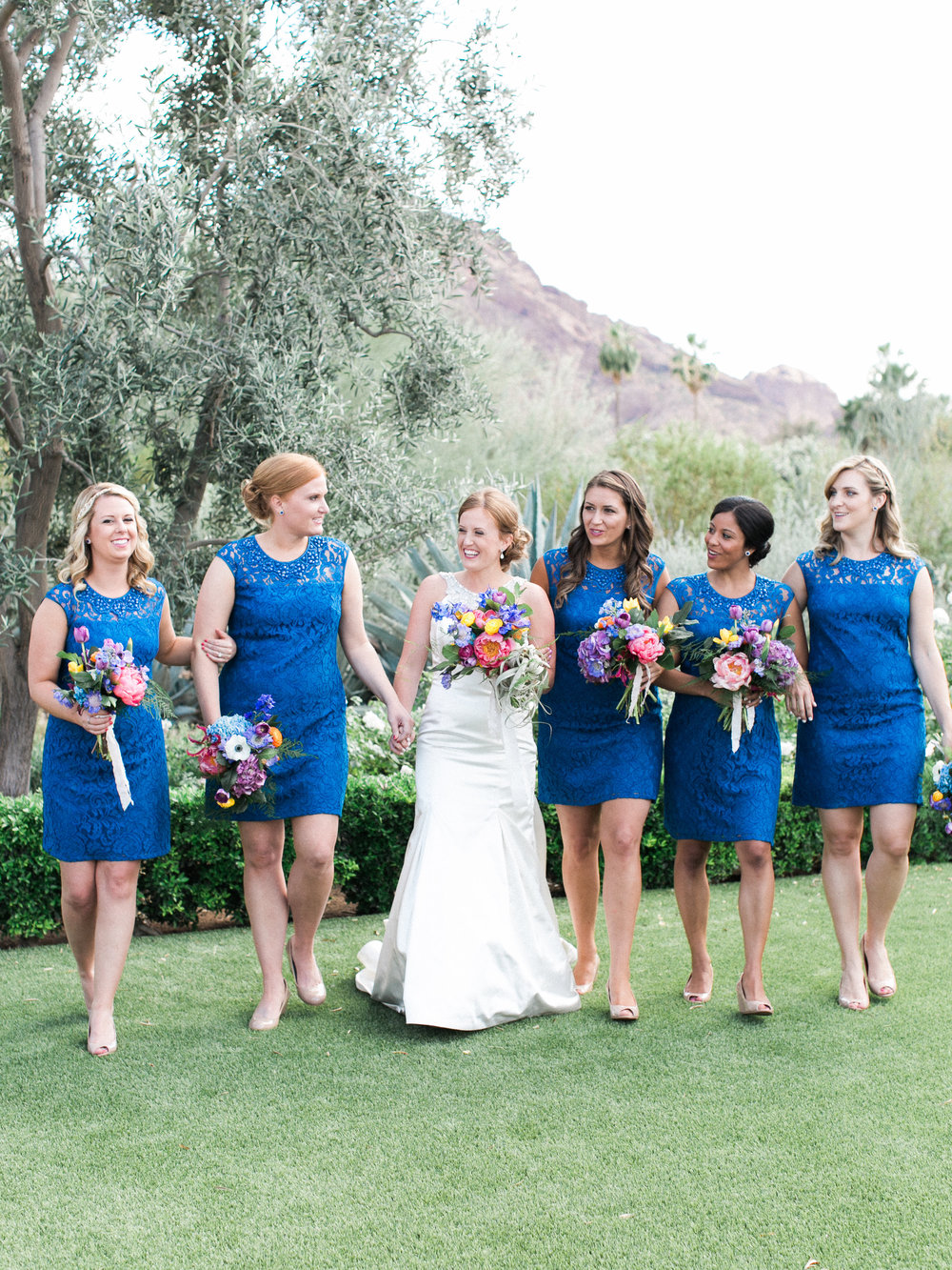 Fiesta Inspired El Chorro Wedding - Bridesmaids