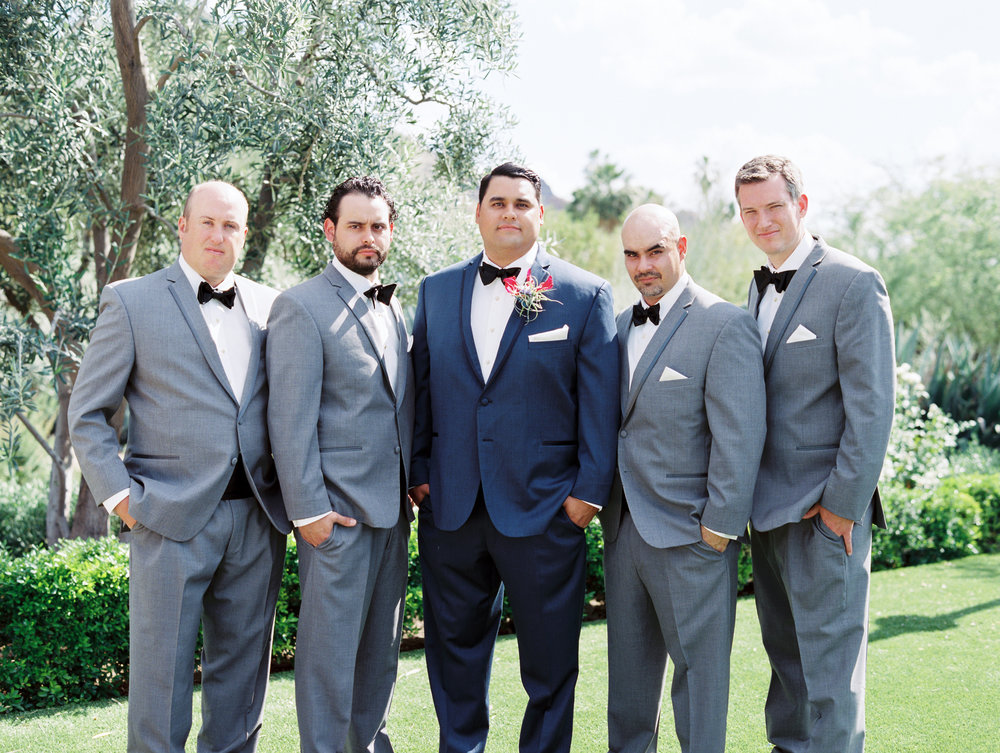 Fiesta Inspired El Chorro Wedding - Groomsmen