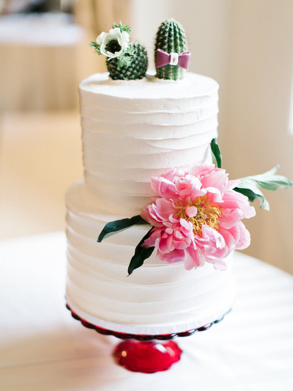 Fiesta Inspired El Chorro Wedding - Cactus topped cake