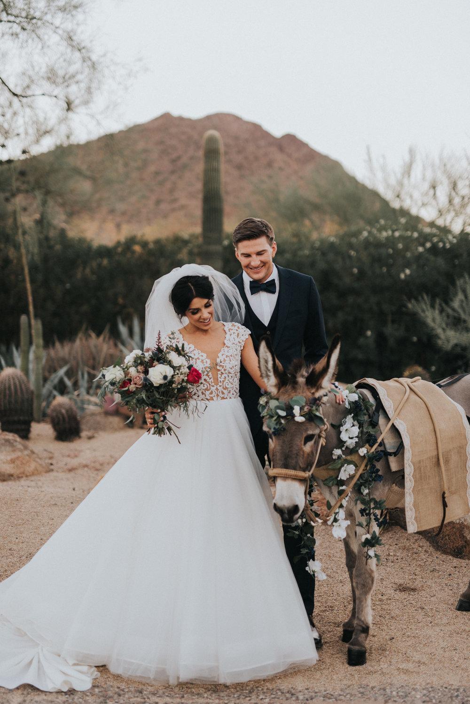 Beer Burro at Desert Wedding