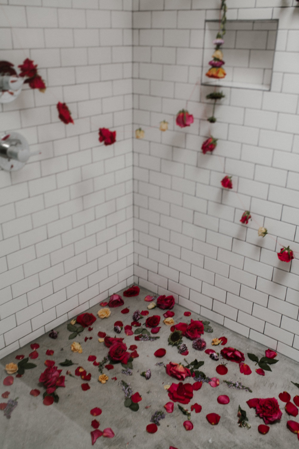 Nontraditional Wedding Inspiration - Flowers in the Shower