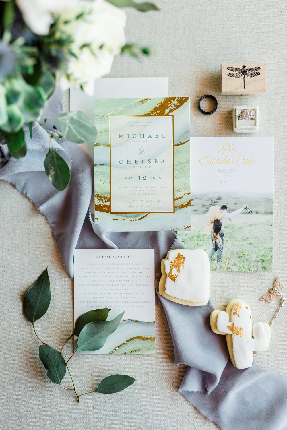 Boho Sedona Wedding - Invitation Suite