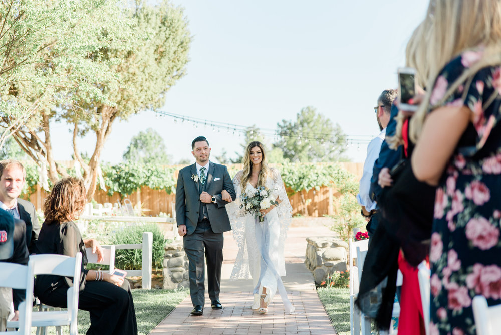 Boho Sedona Wedding - Walk down the aisle