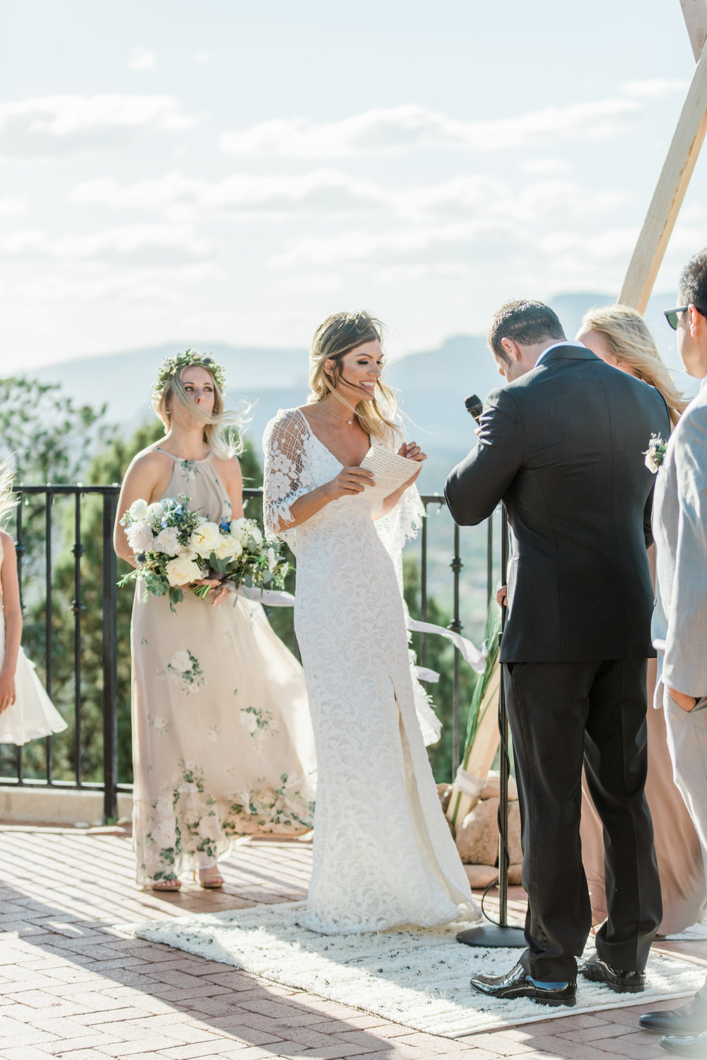Boho Sedona Wedding - Ceremony