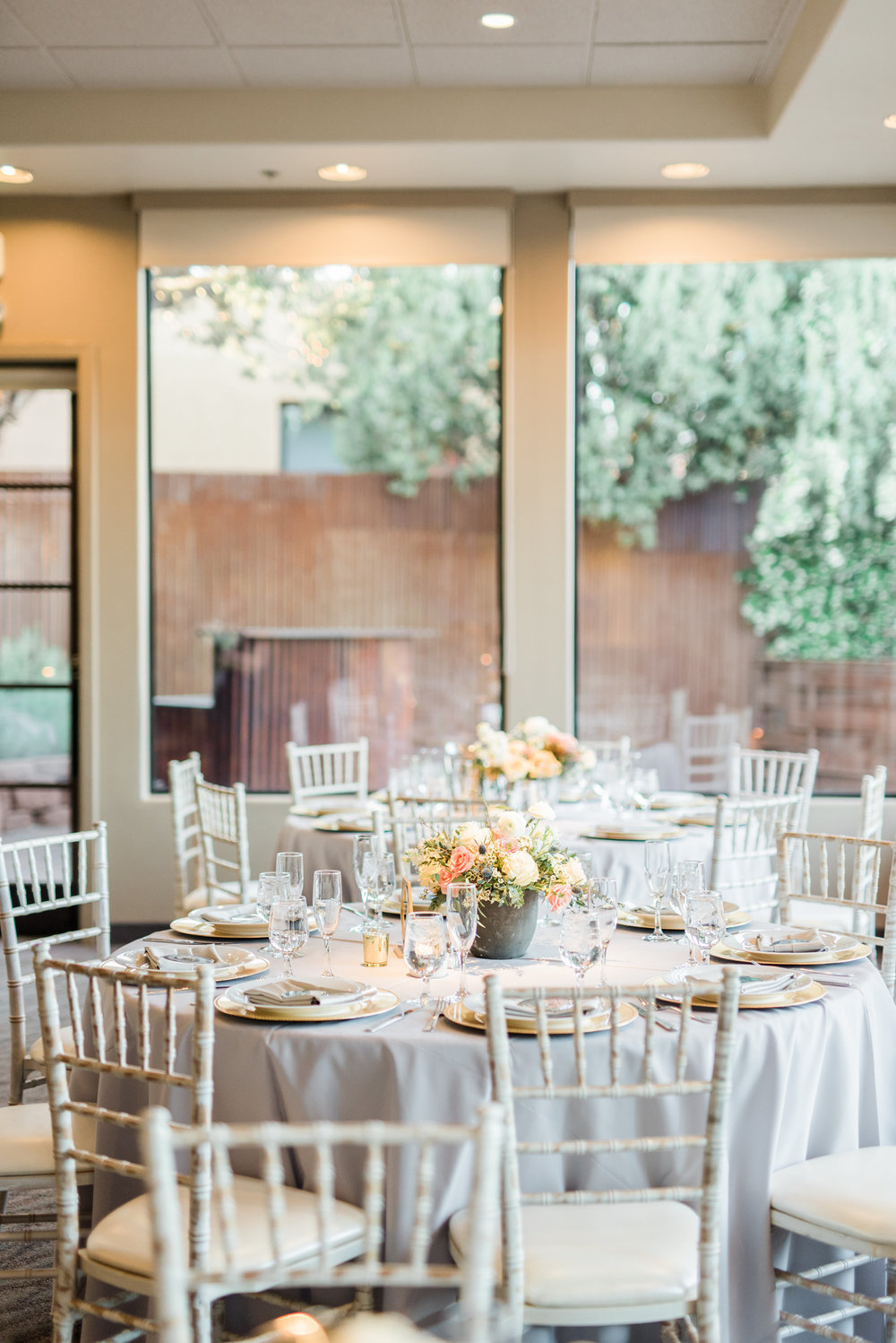 Boho Sedona Wedding - Reception Set-up