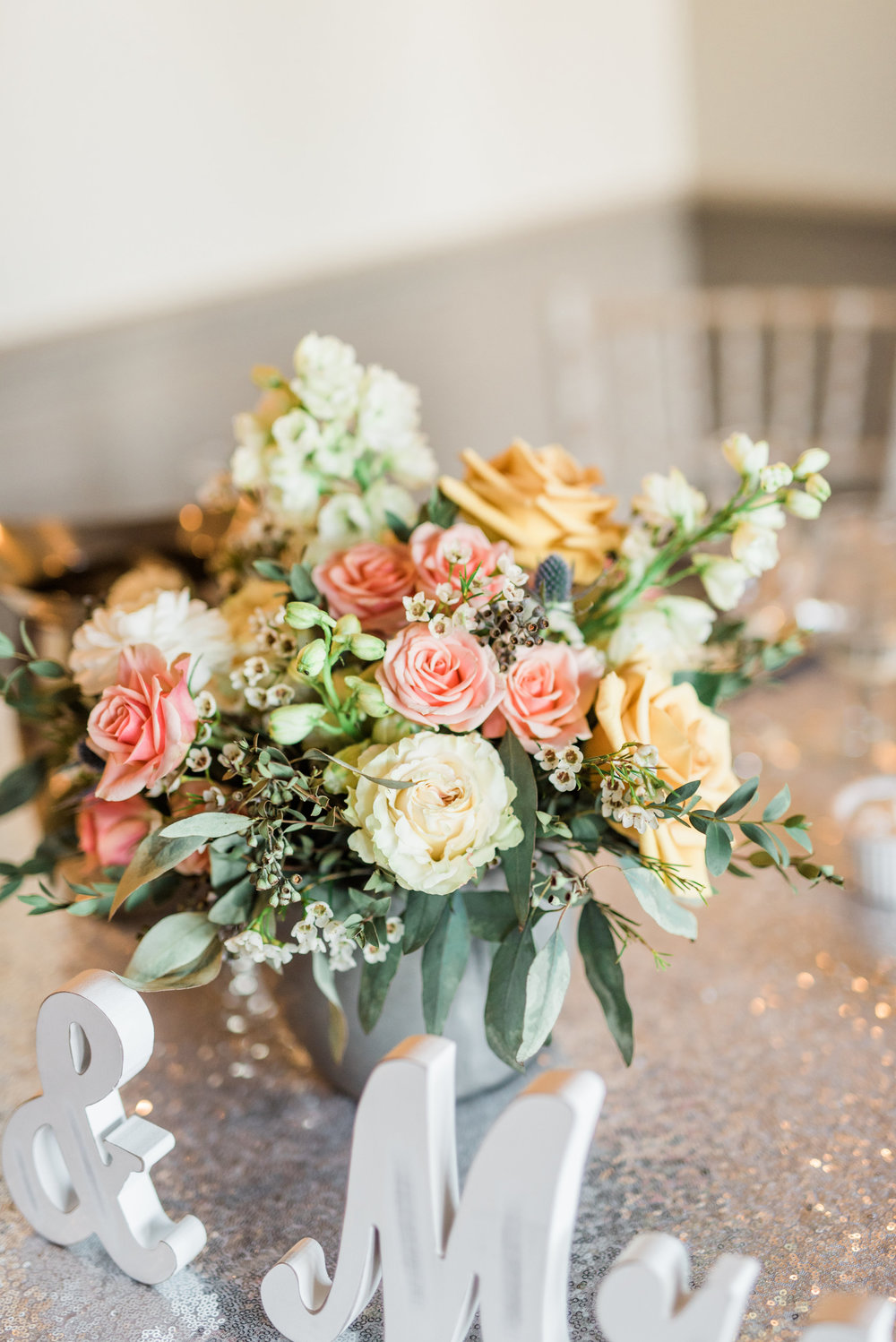 Boho Sedona Wedding - Centerpiece