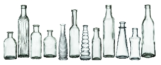 Mixed Vintage Glass Bud Vases
