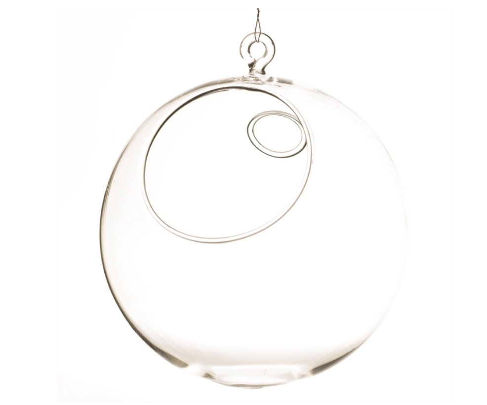 "Hanging Glass Globes 5"" Round"