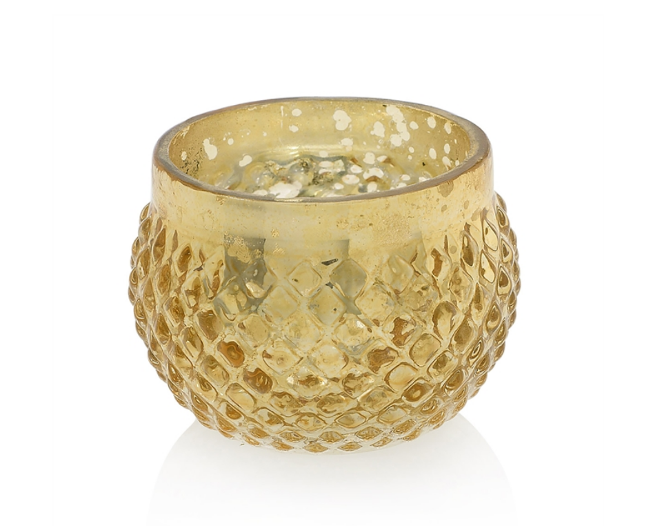 "Gold Array Votive 2.75"" x 2"""