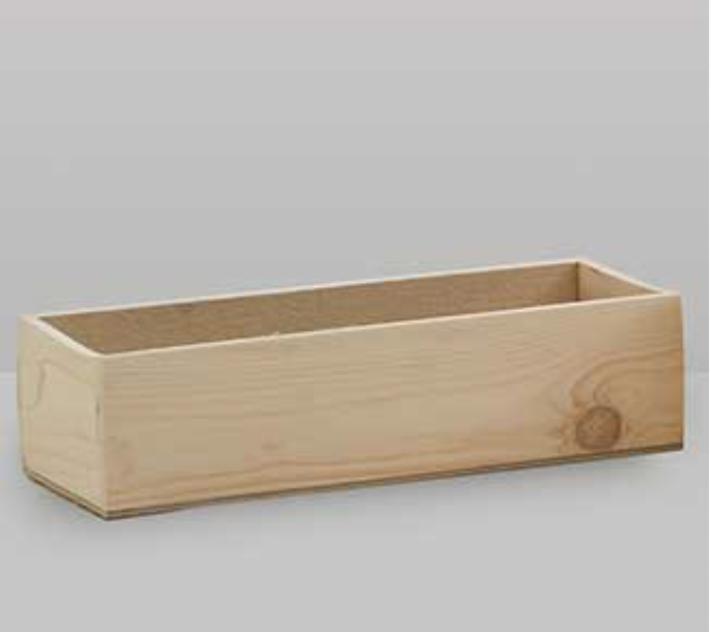 "Wood Box 5.25"" x 14"" Various finishes available"