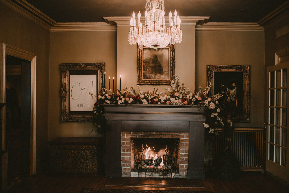 Harry Potter Themed Wedding - Floral Mantle