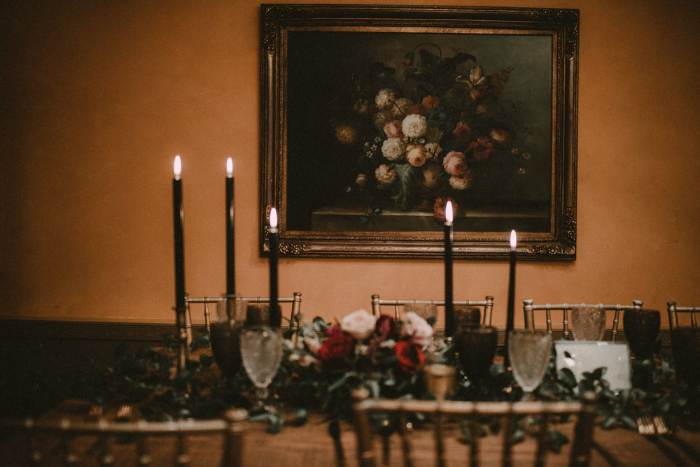 Moody Wedding Reception Table Inspiration