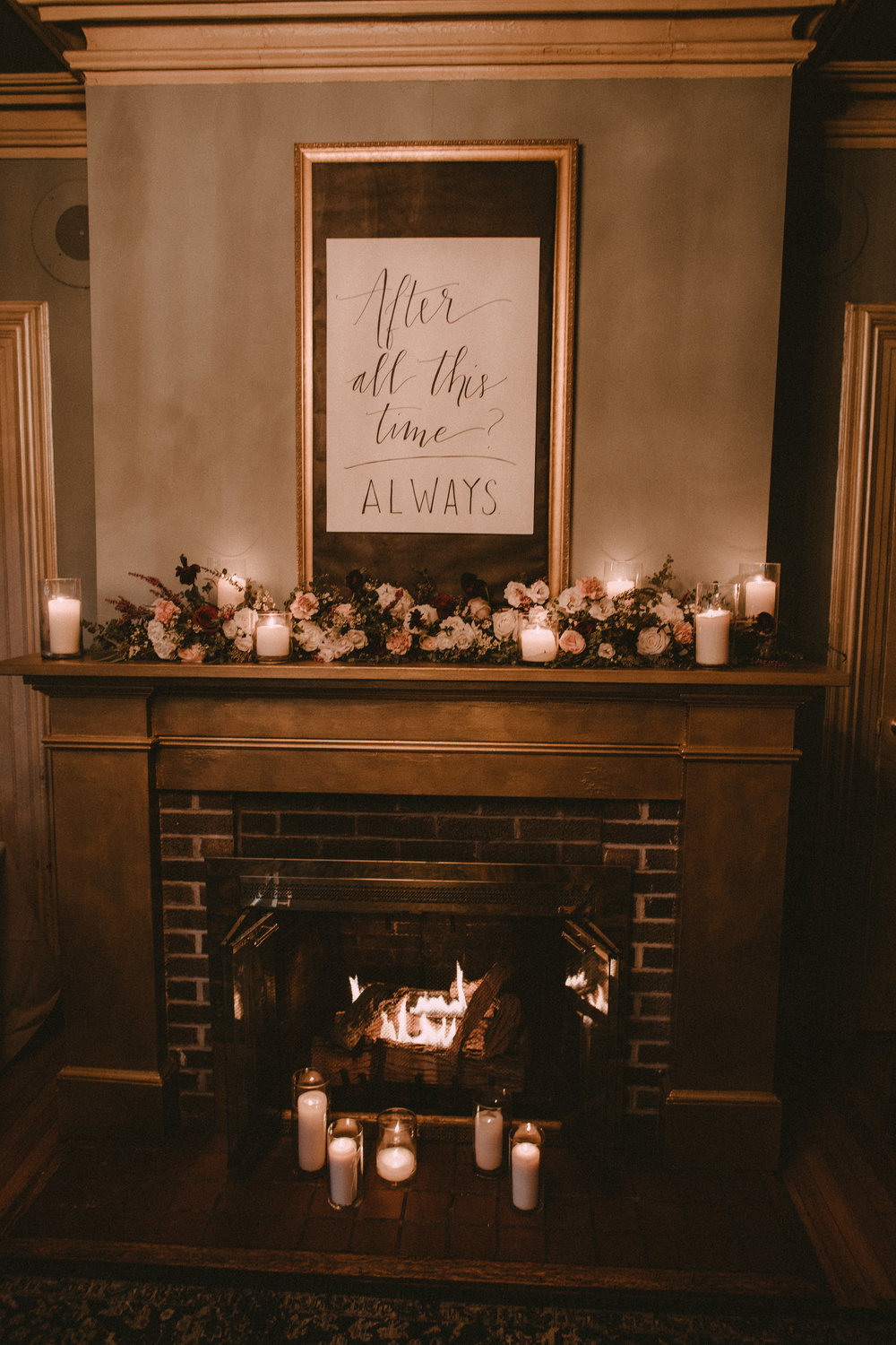 Fireplace Wedding Decor Inspiration