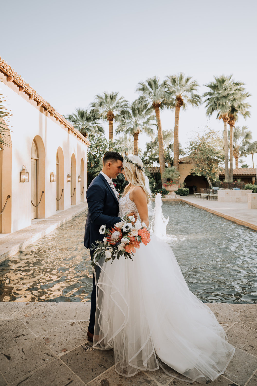 Bride and Groom at Royal Palms Wedding