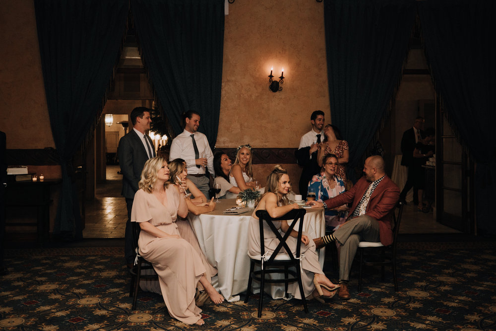 Bridal party at wedding reception - Royal Palms Wedding - Arizona Wedding