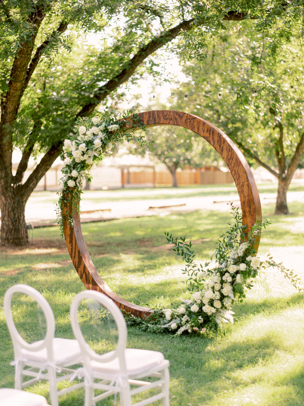 White Wedding at The Farm at South Mountain - Circular Arch