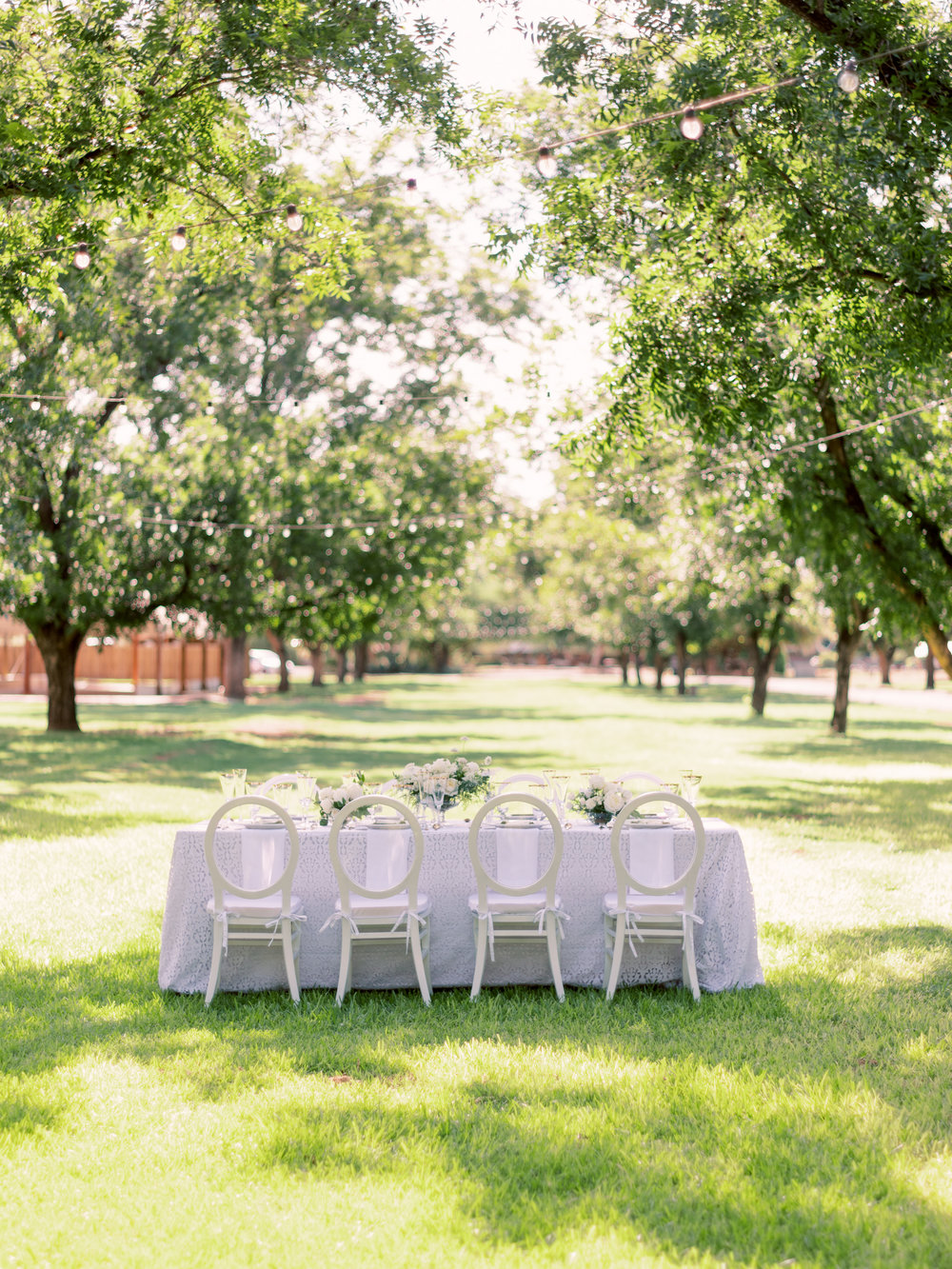 White Wedding at The Farm at South Mountain - Reception Inspiration