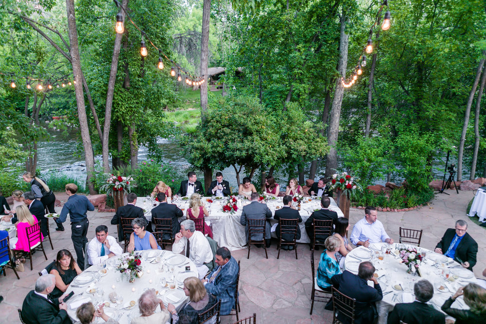 Burgundy and Blush Wedding at L'Auberge de Sedona