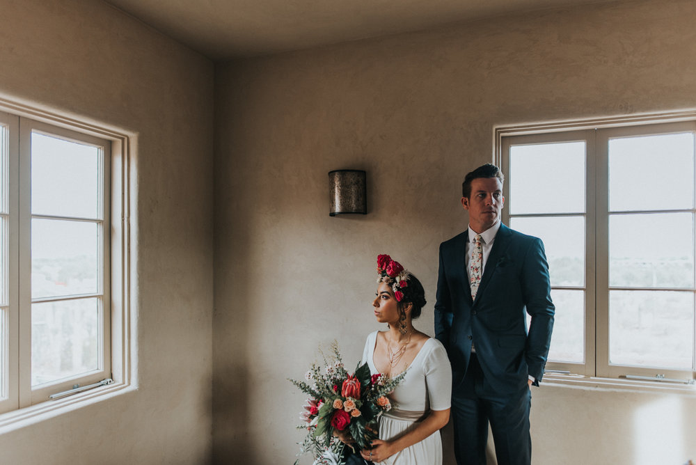 Frida Kahlo Inspired Wedding - Bride and Groom Portraits