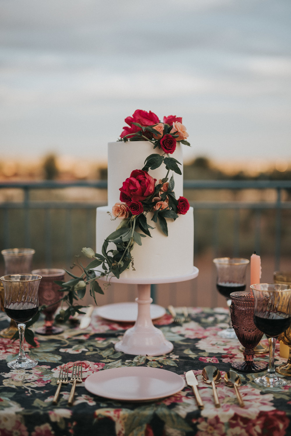 Frida Kahlo Inspired Wedding - Cake