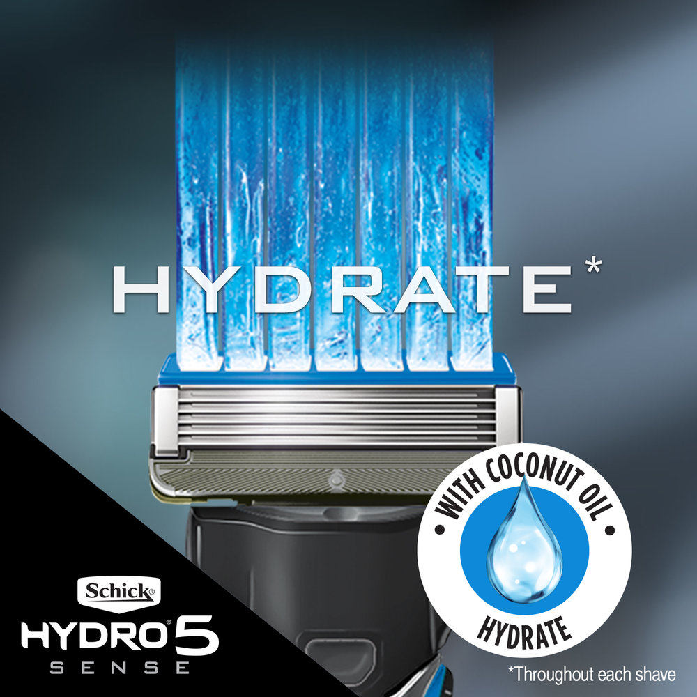 Hydrate Formula - Uniquely designed Hydrate Gel, with coconut oil, hydrates throughout each shave.