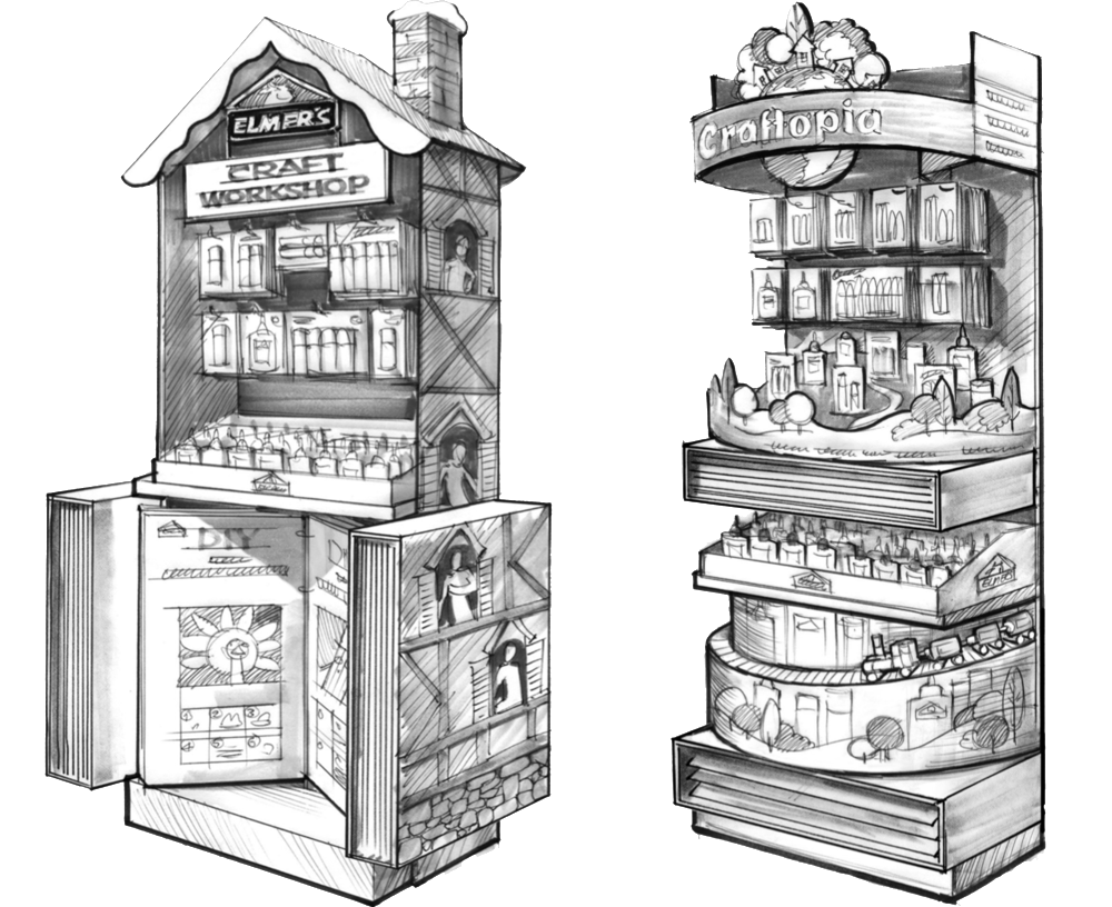 End Cap Tight sketches - Renders by our incredible illustrator, Vitaliy,based on my initial sketches.