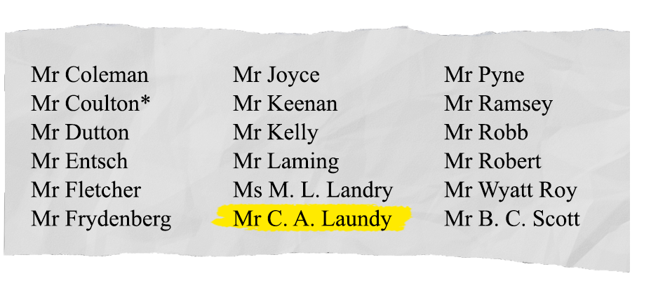 Craig Laundy voting against motion to support banking Royal Commission.  SOURCE: Hansard
