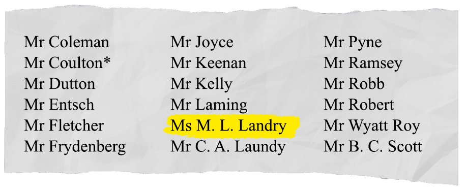 Michelle Landry voting against motion to support banking Royal Commission.  SOURCE: Hansard