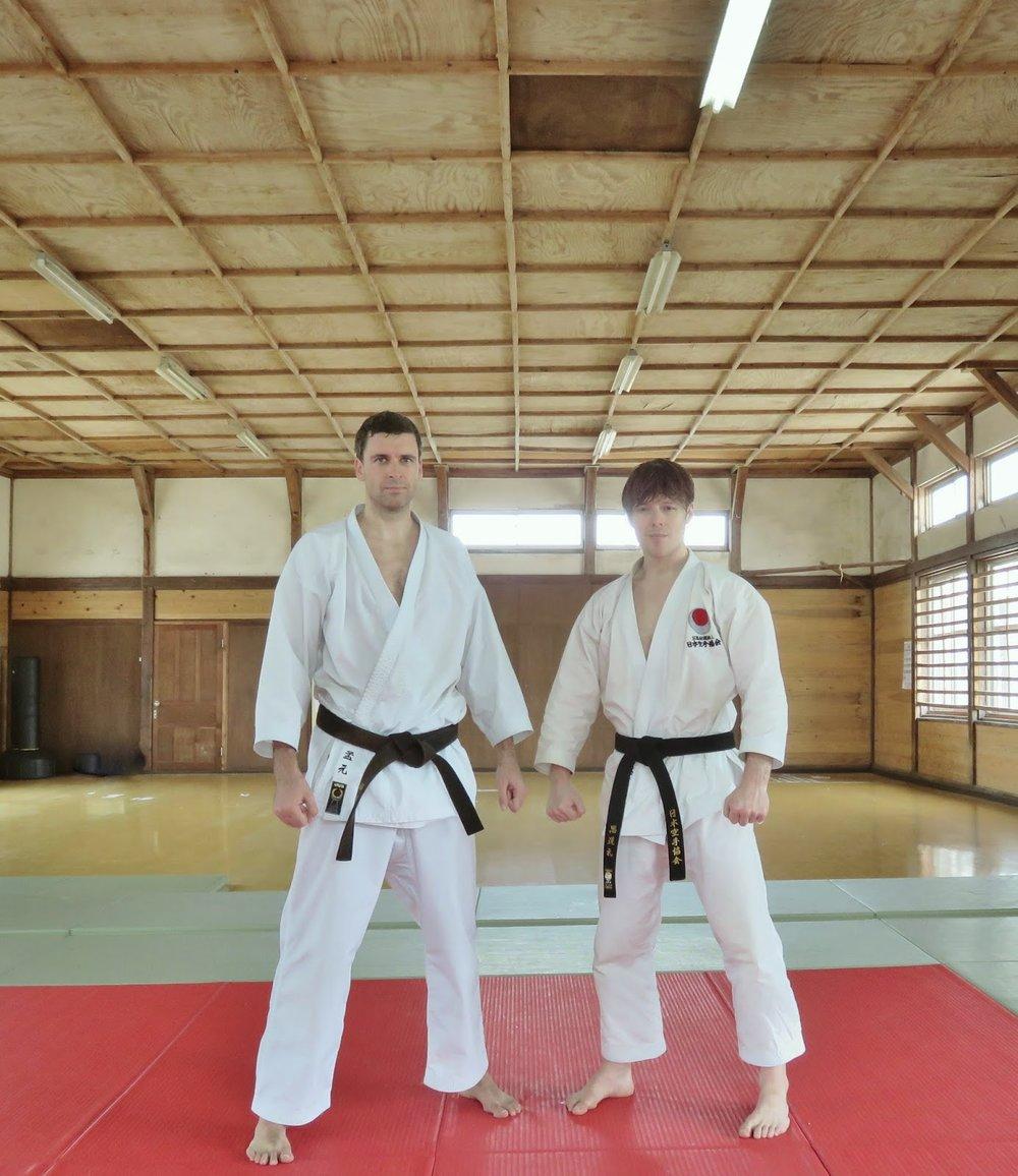 Morgan & Andre. After at training at the Aso-shi Budojo. June 29th, 2014..JPG